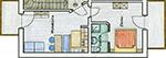 Haus Bernhard Schenna, Ferienwohnung B, Dachgeschoss